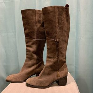 Nine West Grey Suede Boots Size 7.5